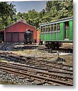 Allaire Rail Yard Metal Print