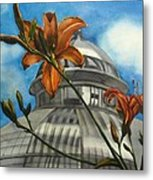 Allan Garden With Daylilies Metal Print