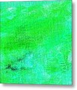 Allegory Aqua Green Metal Print