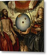 Allegory Of Christianity Oil On Panel Metal Print