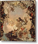 Allegory Of The Planets And Continents Metal Print