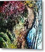 Alley By The Lake Metal Print