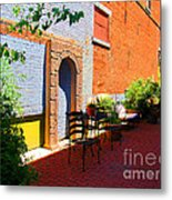 Alley Cafe Metal Print