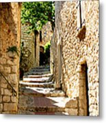 Alley In Eze, France Metal Print