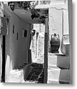 Alley In Kastro Village Metal Print