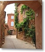 Alley In Roussillion Metal Print