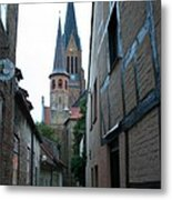 Alley In Schleswig - Germany Metal Print