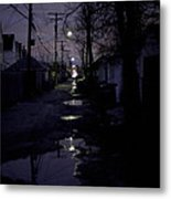 Alley Night Metal Print