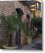 Alley Restaurant Metal Print