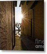 Alley With Sunbeam Metal Print