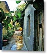 Alleyway In Rhodes Greece Metal Print