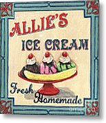 Allie's Ice Cream Metal Print