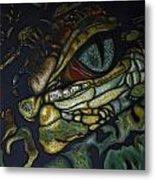 Alligator Eye Metal Print