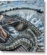 Alligator Hunt Metal Print