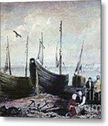 Allonby - Fishing Village 1840s Metal Print