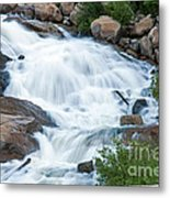 Alluvial Fan Falls On Roaring River In Rocky Mountain National Park Metal Print