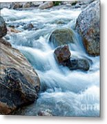 Alluvial Fan Falls On Roaring River Inrocky Mountain National Park Metal Print