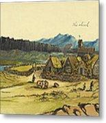 Almanna Gorge Circa 1862 Metal Print by Aged Pixel