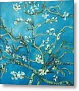 Almond Blossom Branches Print Metal Print