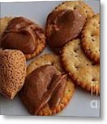 Almonds - Almond Butter - Crackers - Food Metal Print