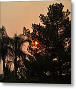 Almosts Gone Now Sunset In Smoky Sky Metal Print