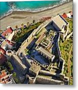 Almunecar Castle From The Air Metal Print