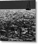Alone At Sea Metal Print