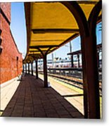 Alone At The Station Metal Print