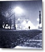 Alone Brooklyn Nyc Usa Metal Print