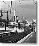 Alone In Railtracks Metal Print