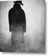 Alone In The Fog 2 Metal Print by Gun Legler