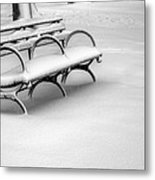 Alone In The Park Metal Print