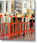 Alone On The Stool Metal Print