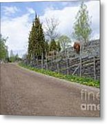 Along An Old Fashioned Road Metal Print