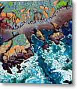 Along California Coastline Metal Print
