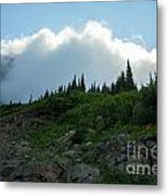 Along Going To The Sun Road Metal Print