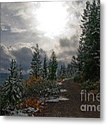 Along Ridge Road Metal Print