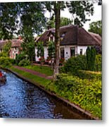 Along The Canal. Giethoorn. Netherland Metal Print