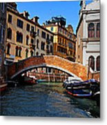 Along The Canals Of Venice Metal Print