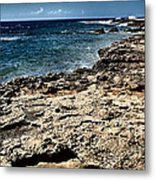 Along The Cliff Metal Print