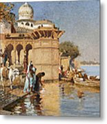 Along The Ghats Mathura Metal Print