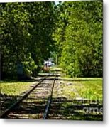 Along The Rails Metal Print