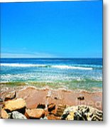 Along The Rincon California Surf Spot From The Book My Ocean Metal Print by Artist and Photographer Laura Wrede