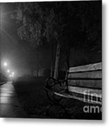 Along The River Walk Metal Print