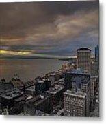 Along The Seattle Waterfront Metal Print