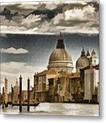Along The Venice Canal Metal Print