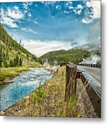 Along The Volcanic Yellowstone Road Metal Print
