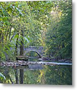 Along The Wissahickon In October Metal Print