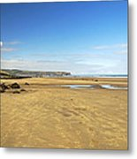 Along Whitby Sands Metal Print