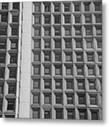 Alot Of Windows In Black And White Metal Print